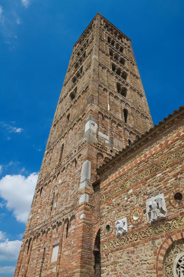 De Abdij van Pomposa. Codigoro. Emilia-Romagna. Italië. royalty-vrije stock fotografie