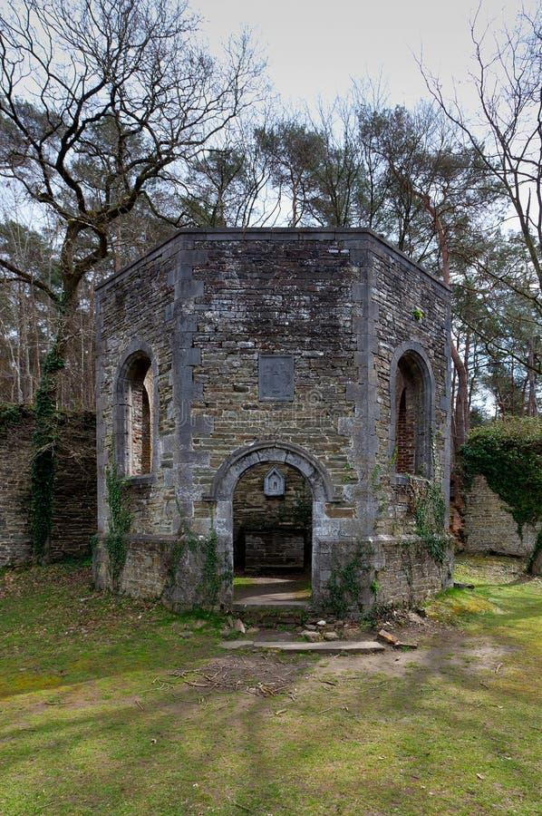 De Abdij van de ruïneskapel van Villers-La Ville, België stock foto's
