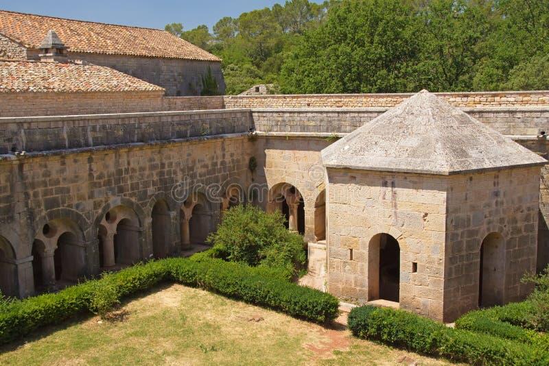 De Abdij van Thoronet in Frankrijk. stock afbeelding