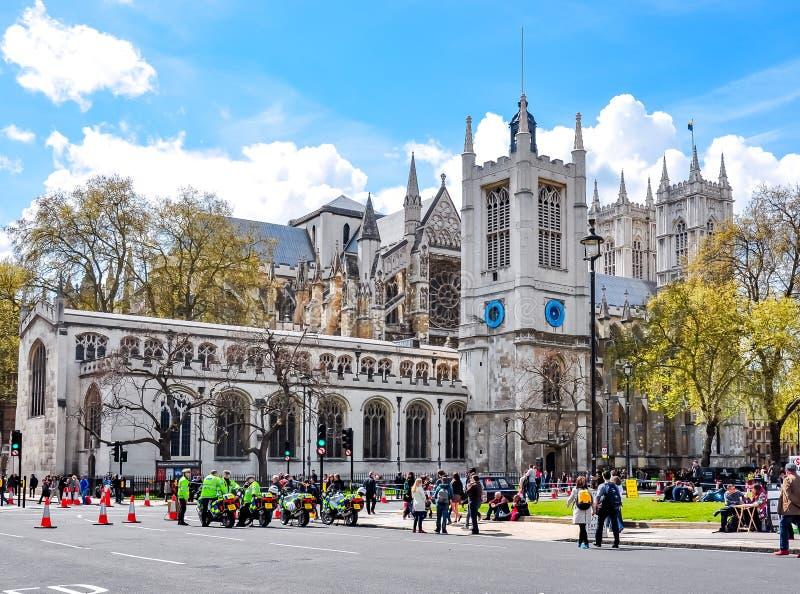 De Abdij van Westminster in centrum van Londen, het UK stock foto