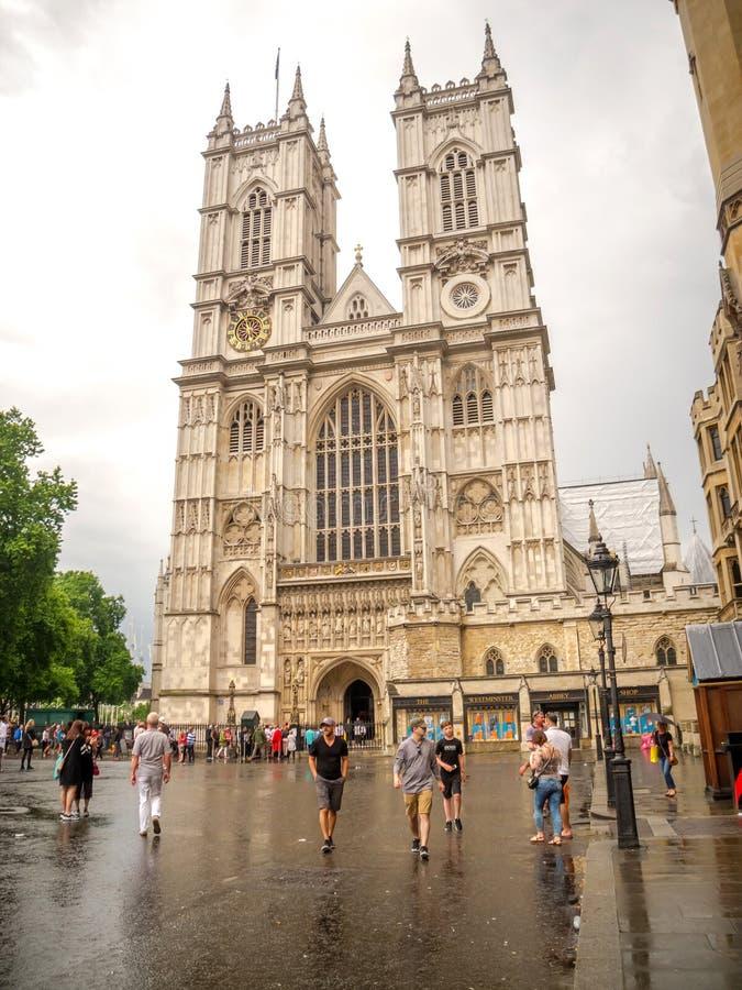 De Abdij van Westminster, de Gotische Kerk in Londen, het UK royalty-vrije stock afbeelding