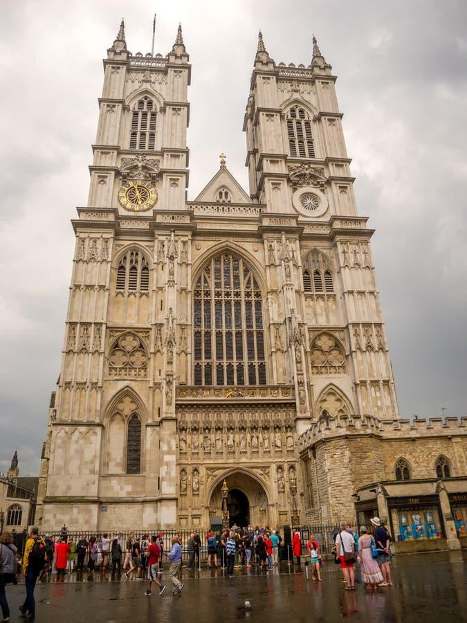 De Abdij van Westminster, de Gotische Kerk in Londen, het UK stock afbeelding