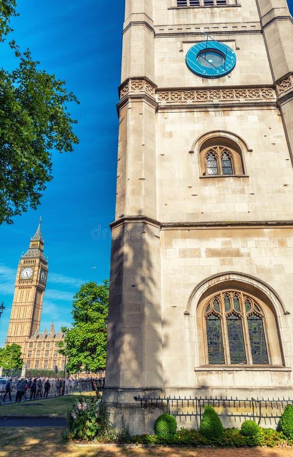 De Abdij van Westminster en Big Ben, Londen royalty-vrije stock foto
