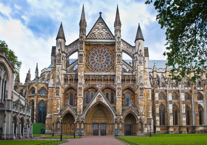 De Abdij van Westminster in Londen stock foto's