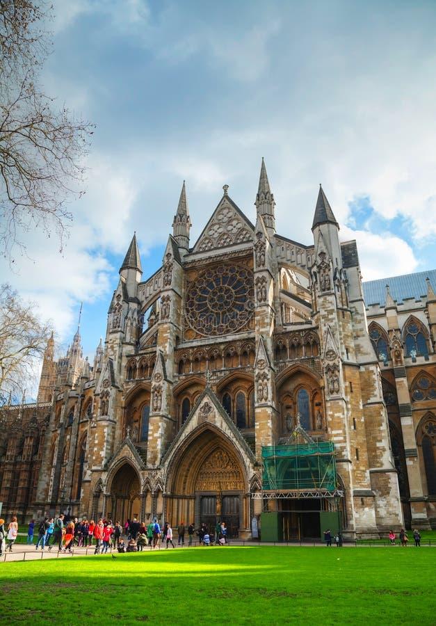 De Abdijkerk van Westminster in Londen stock foto