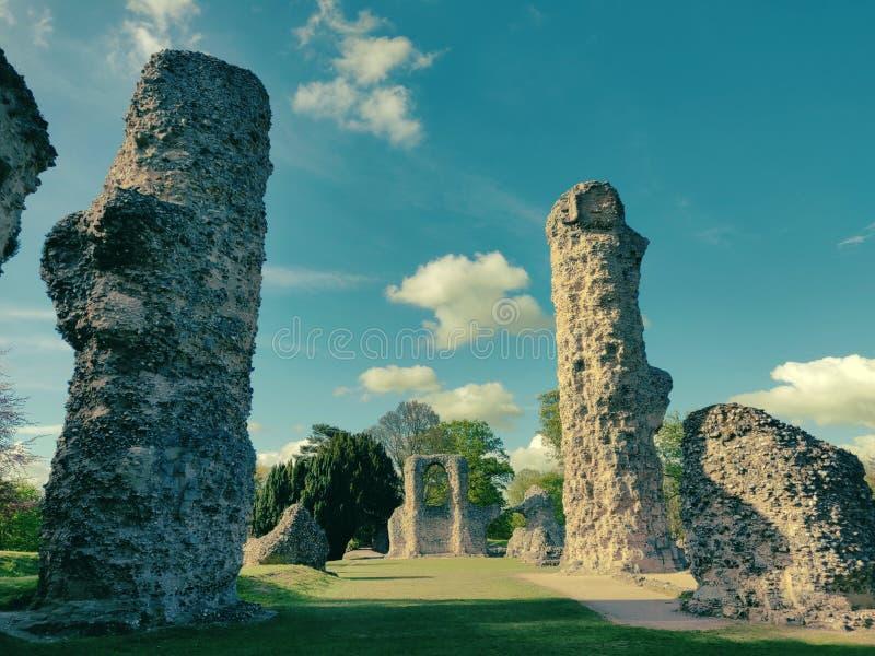 De abdijruïnes begraven in Edmund royalty-vrije stock afbeelding