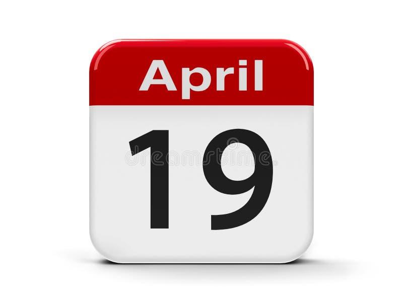 19 de abril ilustração royalty free