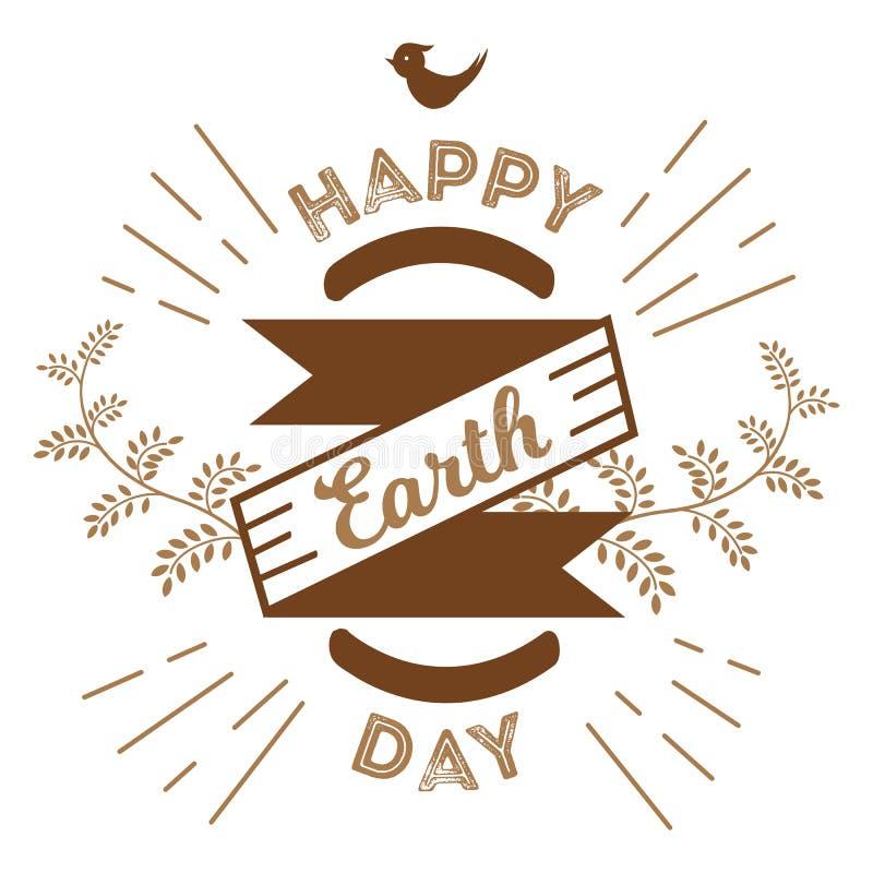 22 de abril Día de la Tierra del mundo los logotipos fijaron para las tarjetas o la bandera con el texto y las fuentes de felicit stock de ilustración