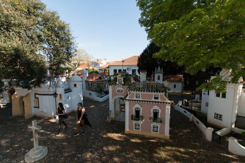 3 de abril de 2017, parque del DOS Pequenitos de Coímbra, Portugal - de Portugal fotos de archivo