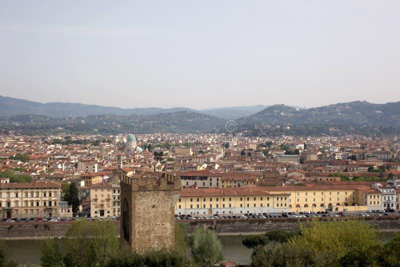 22 de abril de 2019, Florencia, Italia: la opinión judía de la sinagoga desde arriba con el espacio de la copia para su texto imagen de archivo