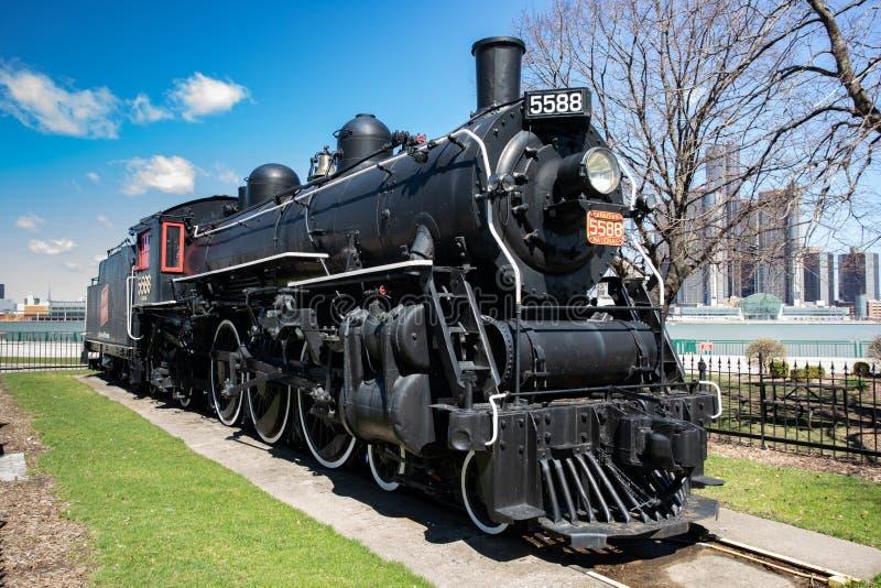 15 de abril de 2019 Windsor Ontario Canada Spirit del motor locomotor de vapor 76 fotografía de archivo