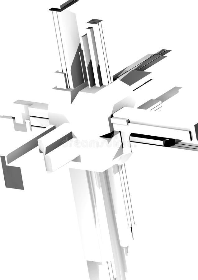 De abstracte 3D structuur geeft terug stock illustratie