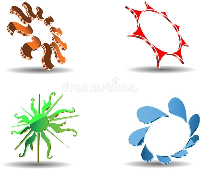 Download De Abstracte 3D Symbolen Van De Zon. Vector Illustratie - Illustratie bestaande uit schaduw, teken: 10781036