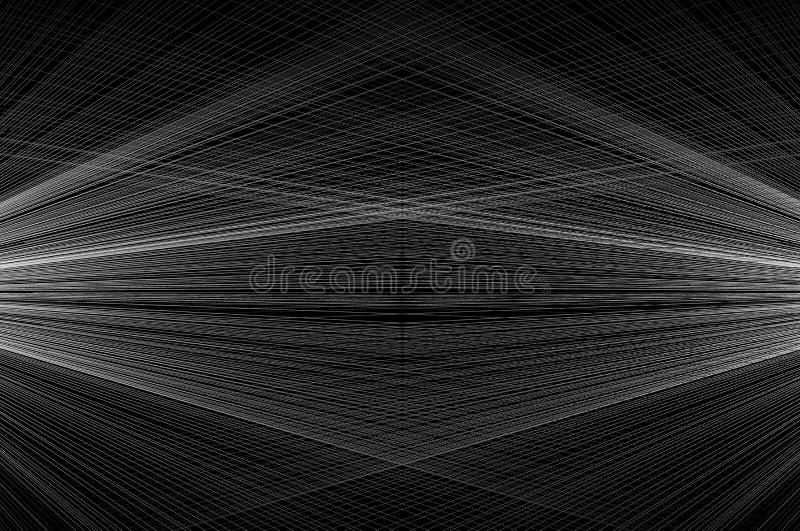 De abstracte achtergrond concentreerde gestreept patroon stock illustratie