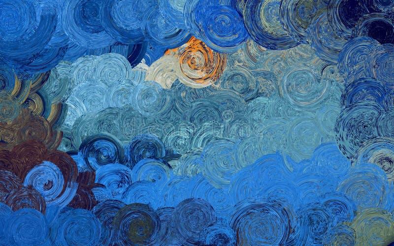 De abstracte achtergrond & het Behang van de kunstwerveling kleurrijke royalty-vrije stock afbeeldingen