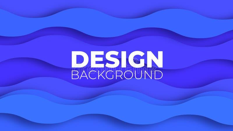 De abstracte achtergrond met document sneed vormen De gelaagde achtergrond van de tunnelgolf voor bedrijfspresentaties, vliegers, vector illustratie