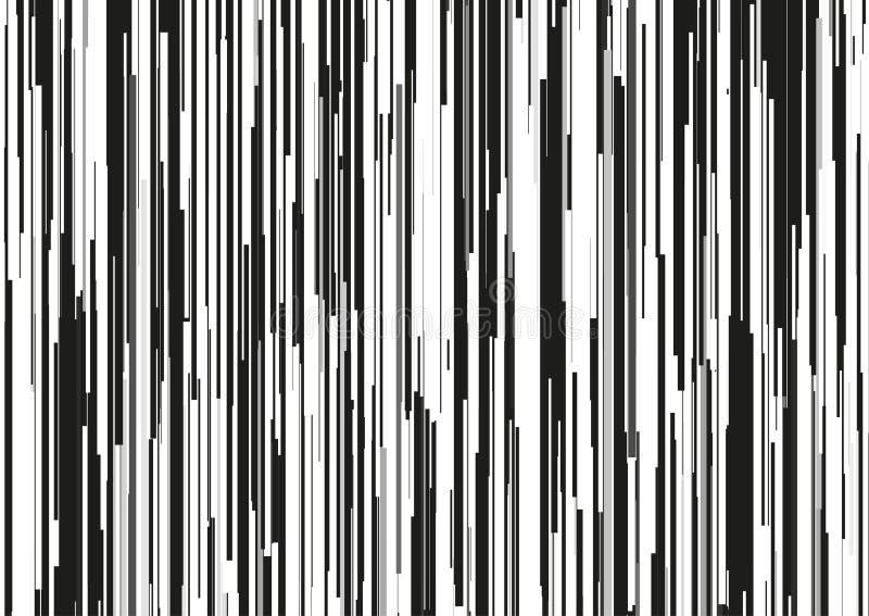 De abstracte achtergrond met glitched verticale strepen, stroomlijnen Concept esthetica van signaalfout vector illustratie