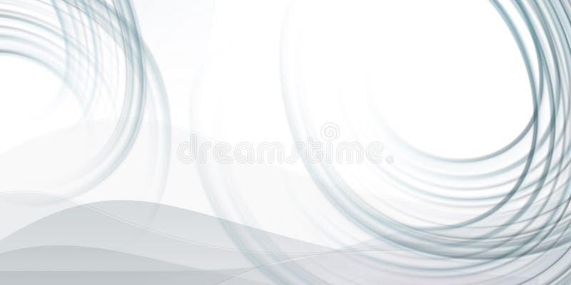 De abstracte achtergrond met grijs fluied lijnen royalty-vrije illustratie
