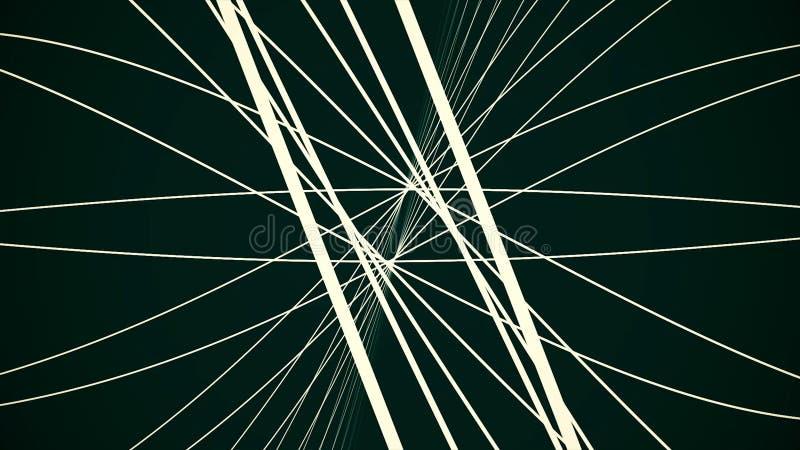De abstracte achtergrond met het bewegen van digitale gloeiende lijnen vertegenwoordigt concept vezel optische kabel Abstracte mi royalty-vrije illustratie