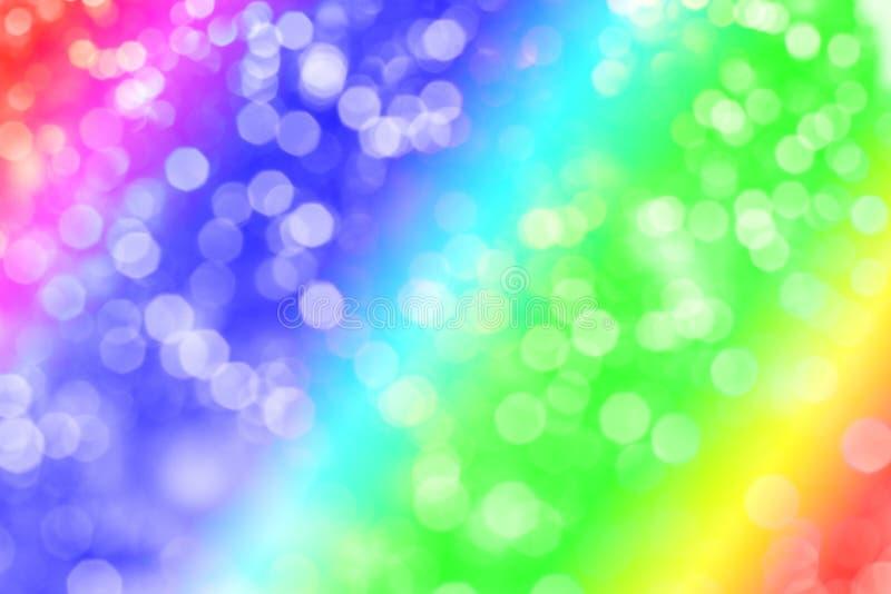 De abstracte achtergrond schittert Het hoogtepunt van de regenboogkleur Mooie achtergrond stock fotografie