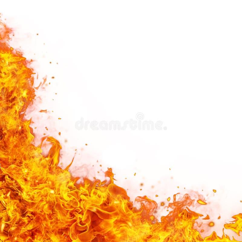 De abstracte achtergrond van brandvlammen royalty-vrije stock foto
