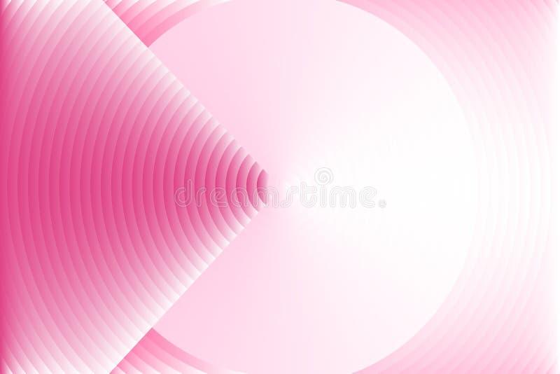 De abstracte achtergrond van de cirkeltextuur, gelijkend op donker roze pijluiteinde die doel op zachte roze cirkel exemplaar-rui royalty-vrije illustratie