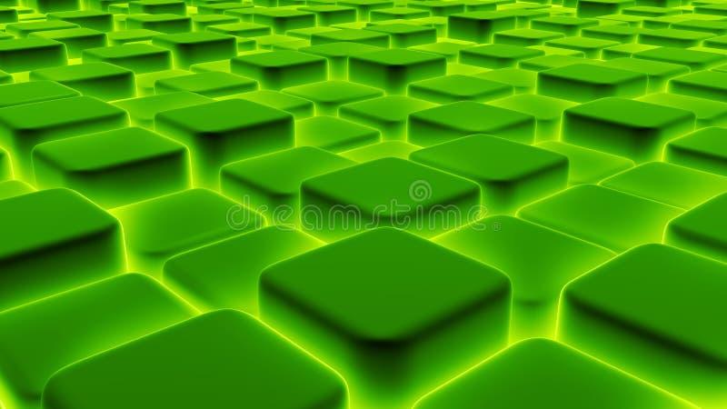 De abstracte achtergrond van 3d blokken, kubussen, 3d doos, geeft terug royalty-vrije illustratie