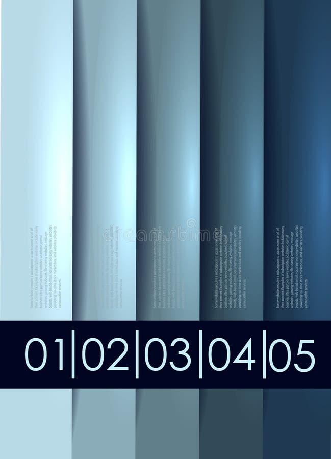 De abstracte achtergrond van de aantallijn stock illustratie