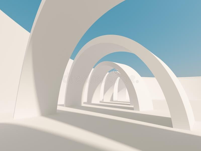 De abstracte Achtergrond van de Architectuur royalty-vrije illustratie