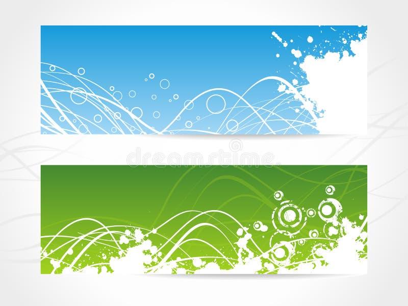 De abstracte Achtergrond van de Banner stock illustratie