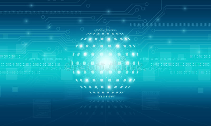 De abstracte achtergrond van de bol digitale technologie stock illustratie