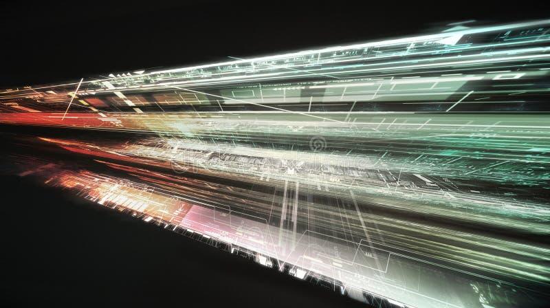 De abstracte achtergrond van de bouwtechnologie royalty-vrije illustratie