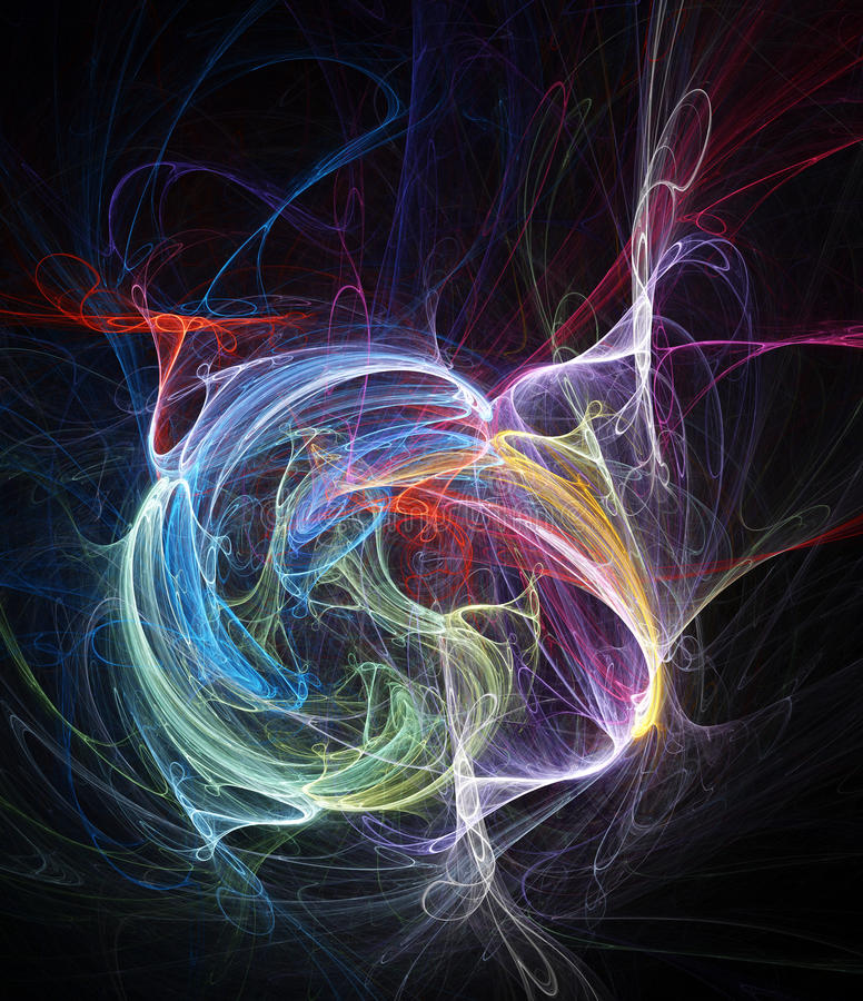 De abstracte achtergrond van de chaos vector illustratie