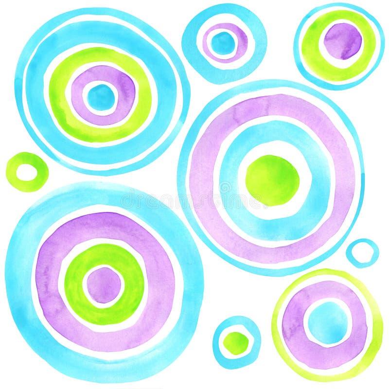 De abstracte achtergrond van de cirkelswaterverf Abstract art vector illustratie
