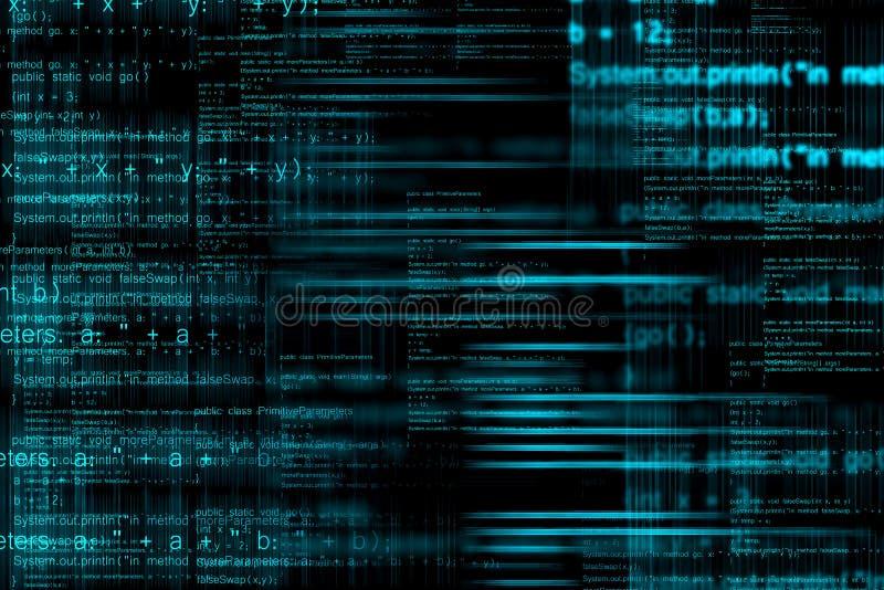 De abstracte achtergrond van de computercode vector illustratie