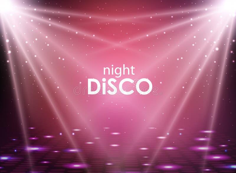 De abstracte achtergrond van de disco De textuur van de discobal royalty-vrije illustratie