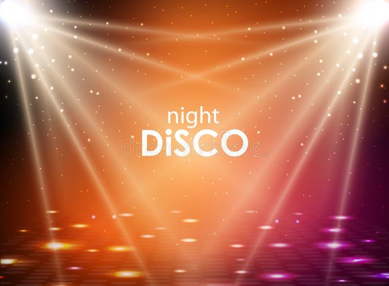 De abstracte achtergrond van de disco De textuur van de discobal Vlek lichte stralen royalty-vrije illustratie