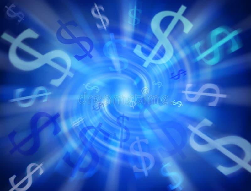 De abstracte Achtergrond van de Dollar van het Geld royalty-vrije stock afbeeldingen