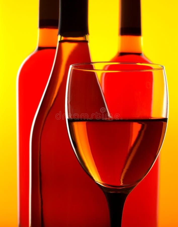 De abstracte Achtergrond van de Fles & van het Glas stock foto's