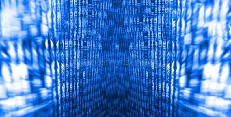 De abstracte achtergrond van de gegevensbitstroom stock foto