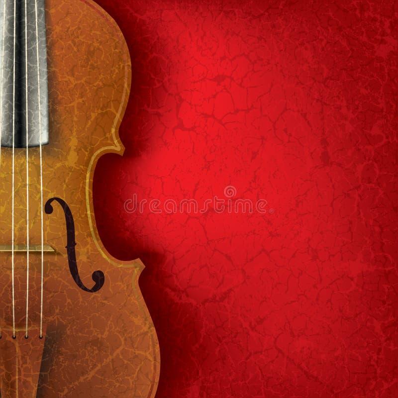 De abstracte achtergrond van de grungemuziek met viool royalty-vrije illustratie