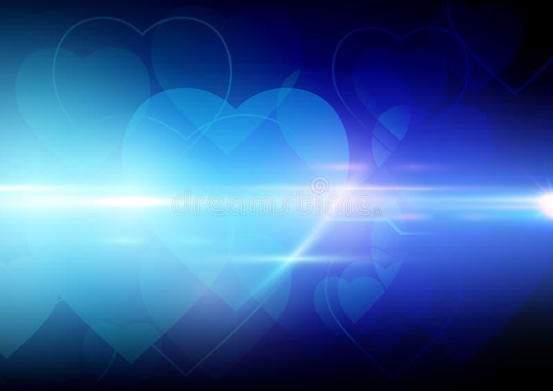 De abstracte achtergrond van de hartvorm stock illustratie