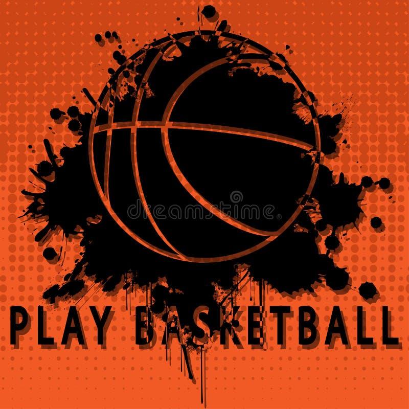 Het basketbal van het spel vector illustratie