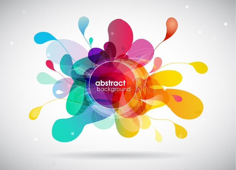 De abstracte achtergrond van de kleurenplons vector illustratie
