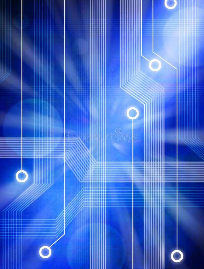 De abstracte Achtergrond van de Kring van de Computer stock illustratie