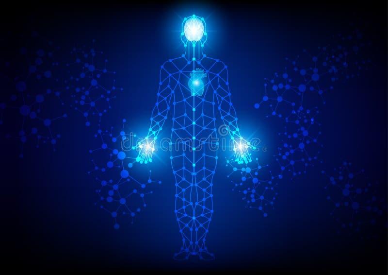 De abstracte achtergrond van de lichaamstechnologie stock illustratie