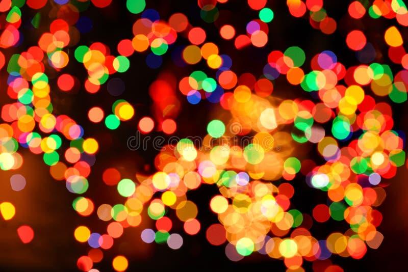 De Abstracte Achtergrond van de Lichten van Kerstmis royalty-vrije stock afbeelding