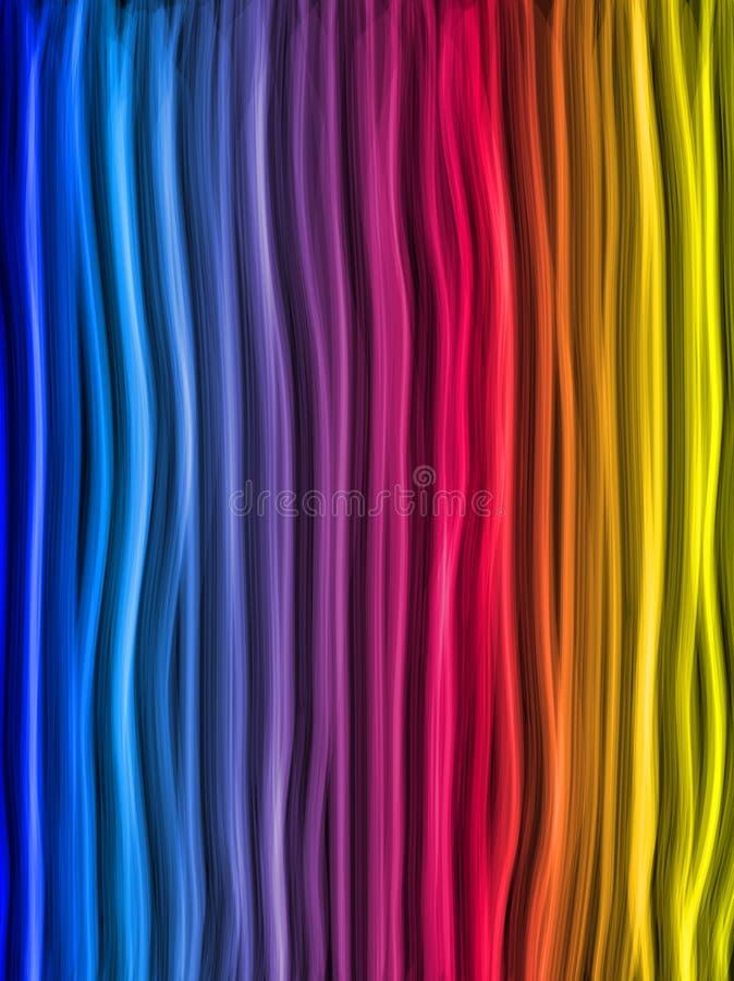 De abstracte Achtergrond van de Lijnen van de Regenboog royalty-vrije illustratie