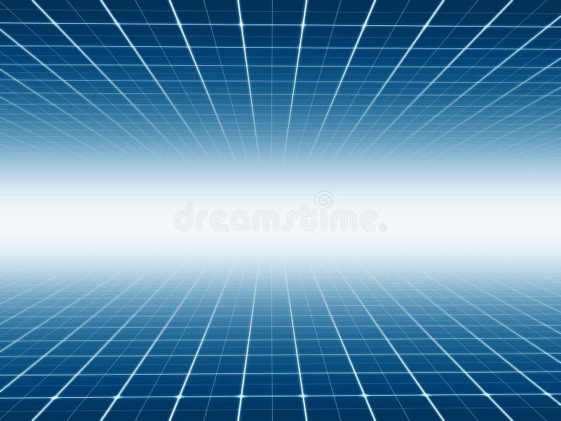 De abstracte achtergrond van de lijntechnologie royalty-vrije illustratie