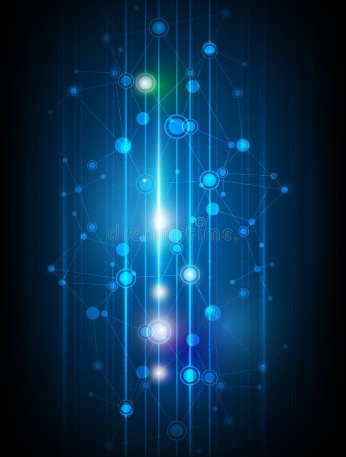 De abstracte achtergrond van de Moleculestechnologie vector illustratie